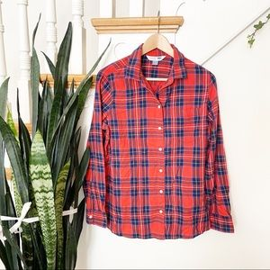 Old Navy plaid pattern flannel button down shirt L